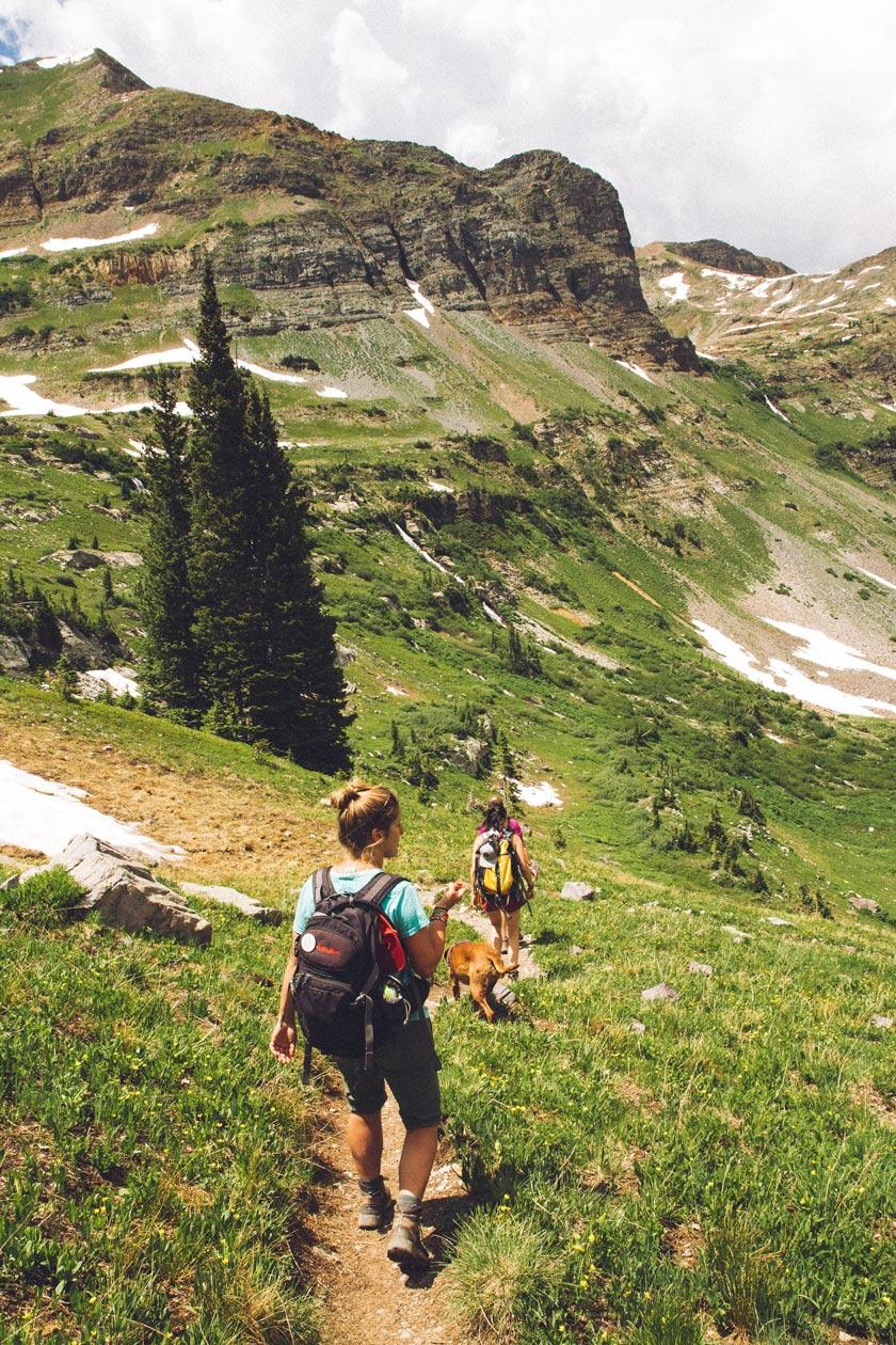 uphill practice for the trek